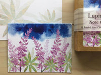 Watercolor Lupine Due North Stationery