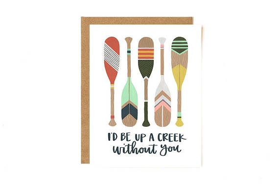 Up a Creek Without a Paddle Thank You Card