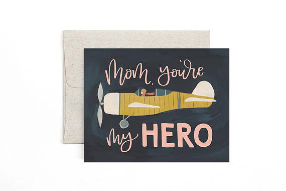 Aviator Mother's Day Card