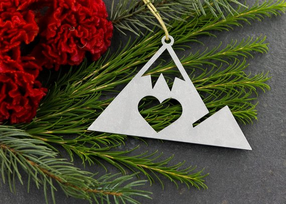 Mountains Metal Ornament