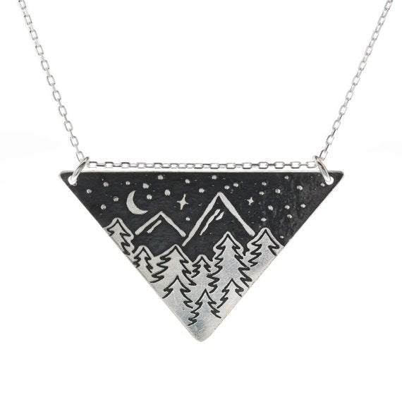 Under The Sky Triangle Necklace