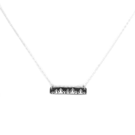 Treeline Bar Necklace
