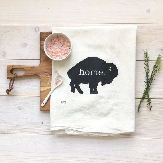 Home Bison Tea Towel