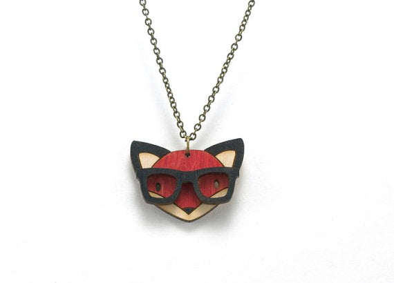 Nerd Fox Necklace :: [un]possible cuts