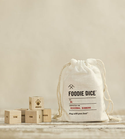 Foodie Dice and Drawstring Pouch