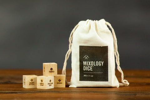 Mixology Dice and Drawstring Pouch