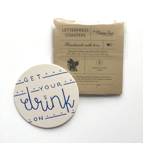 Letterpress Coasters :: Bunny Bear Press