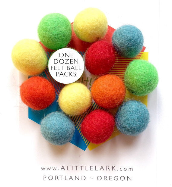 Slingshot Wool Felt Ammo Ball Pack