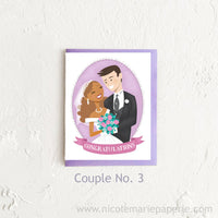 Biracial Wedding Card