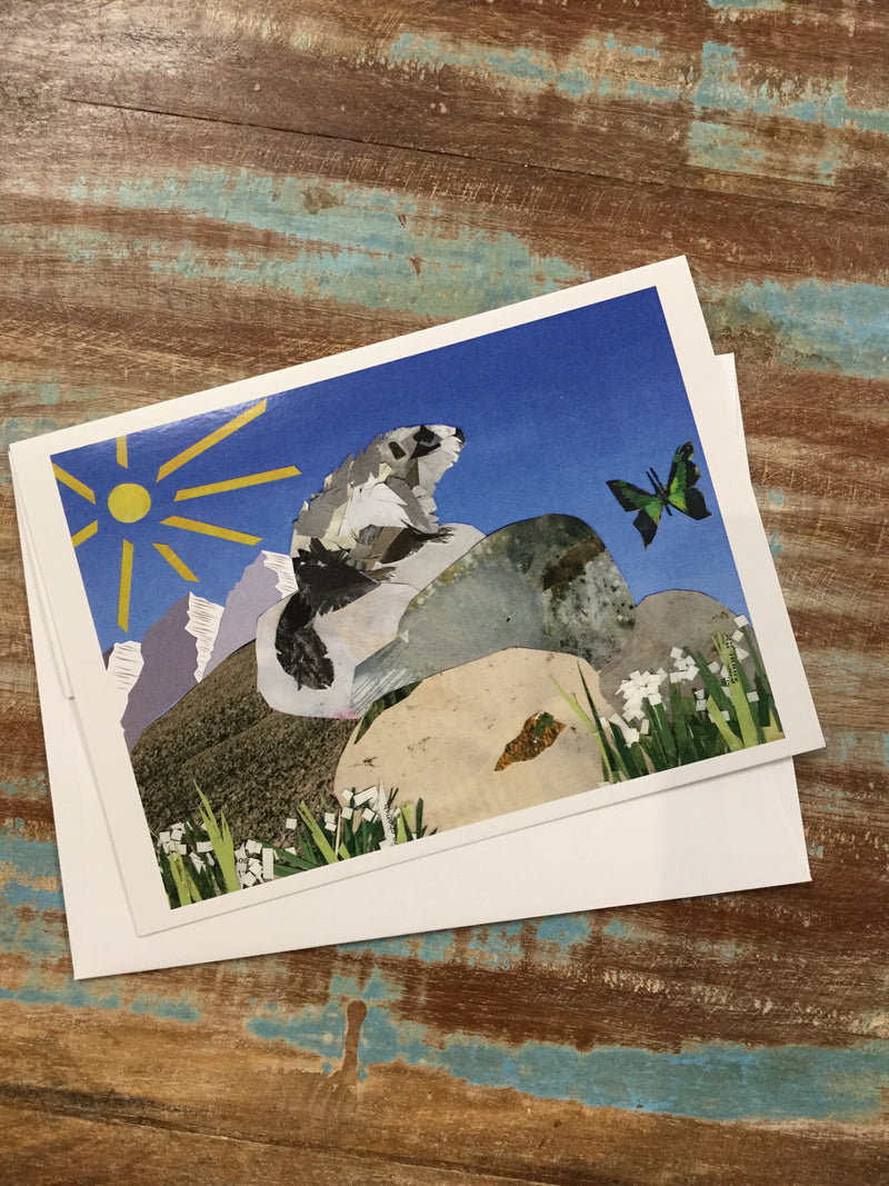 Marmot Collage Card