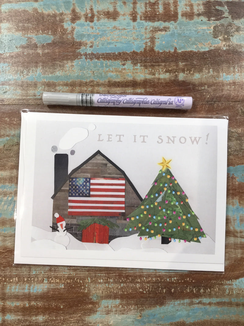Let it Snow Cabin Card