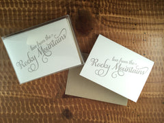 """Love from the Rocky Mountains"" Boxed Cards"