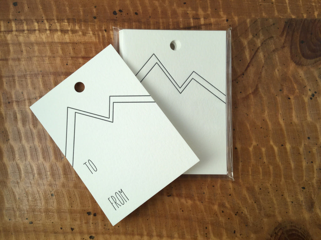Letterpress Mountain Gift Tags