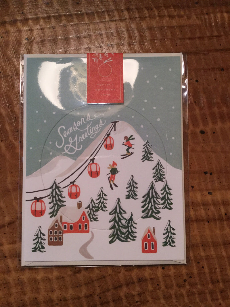 Holiday Snow Scene Ornament Card