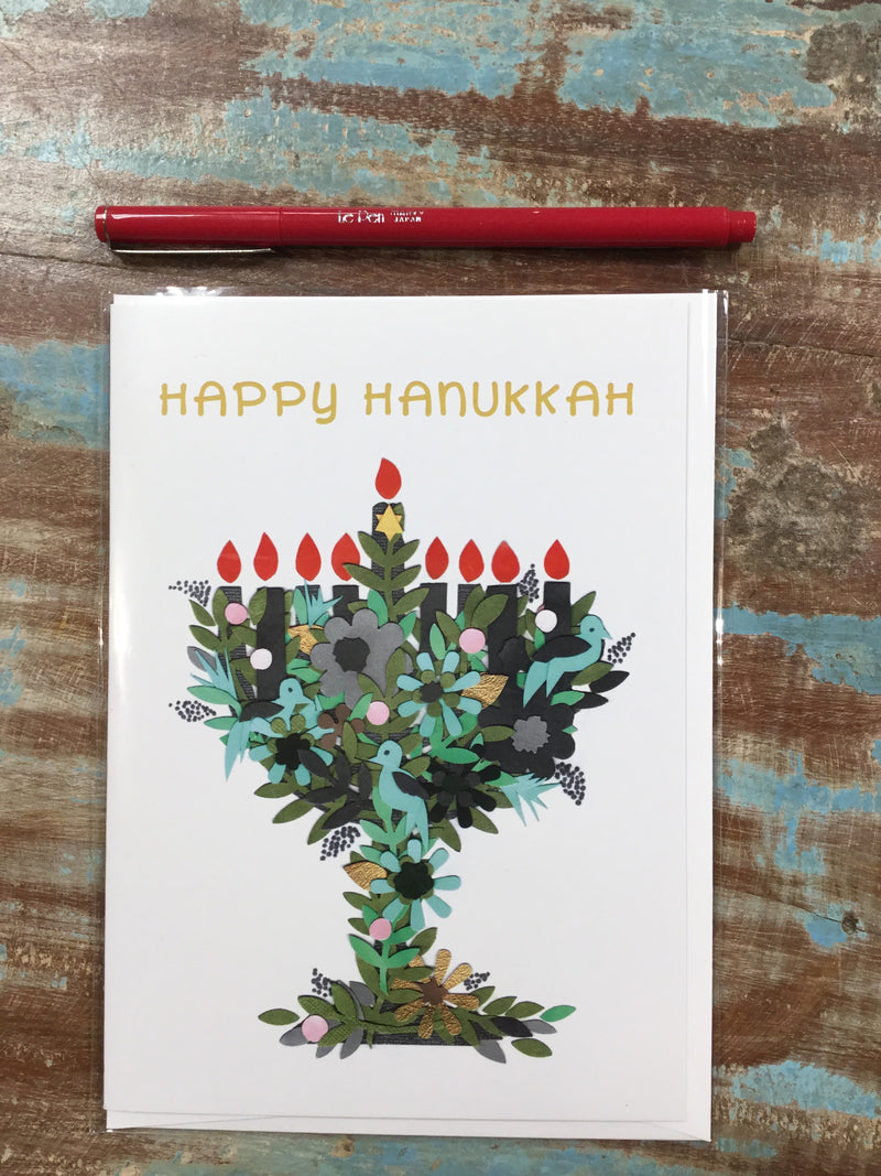 Hanukkah Collage Card