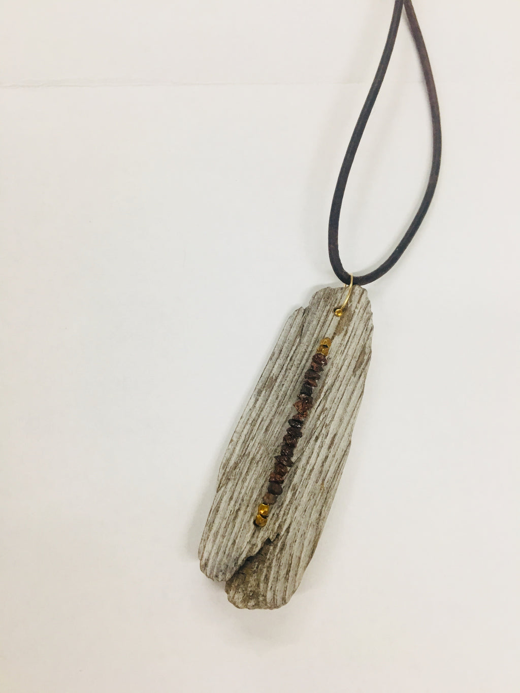 Driftwood and Brown Diamond Necklace