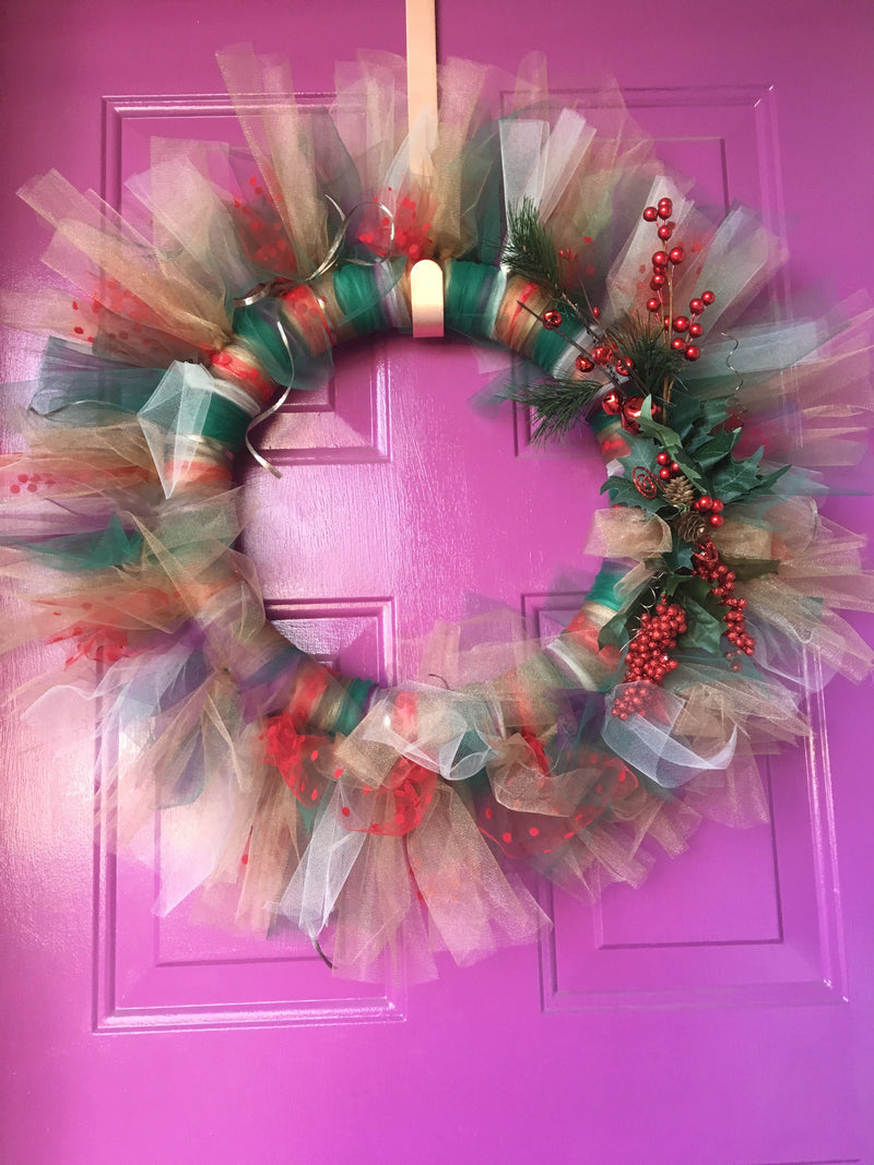 Winter Wonderland Tulle Wreath :: Period Six Studio