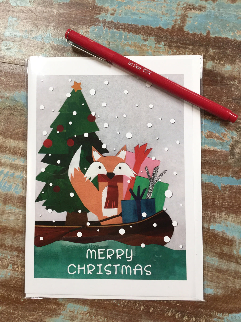 Merry Christmas Fox Card