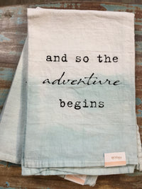 And So the Adventure Begins Tea Towel