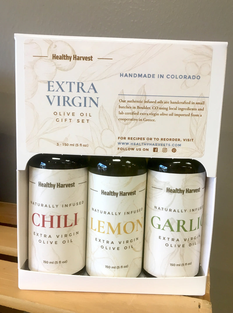 Infused EVOO Gift Box Trio