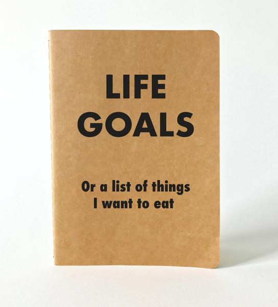Soft Cover Life Goals Foodie Journal