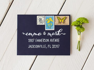 envelope addressed using a Lettermate