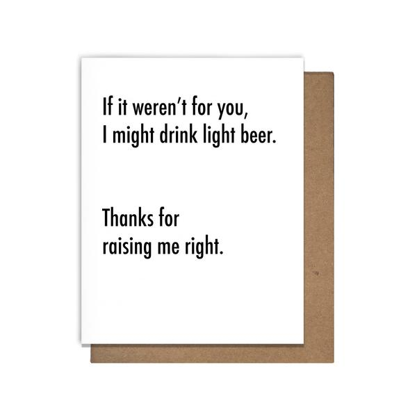 Light Beer Greeting Card