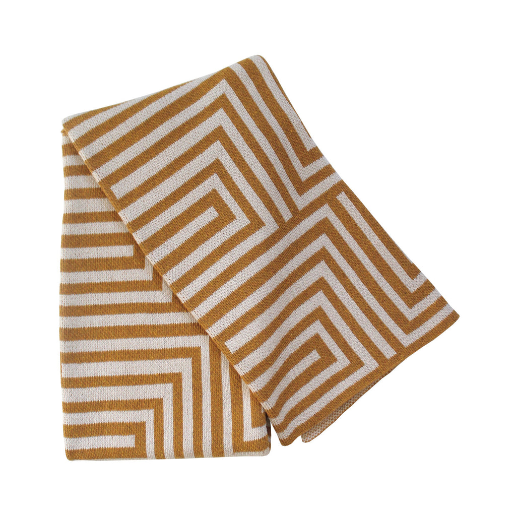 Gold and Beige Hygge Throw