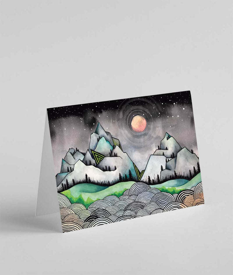 Minarets Mountains Art Greeting Card