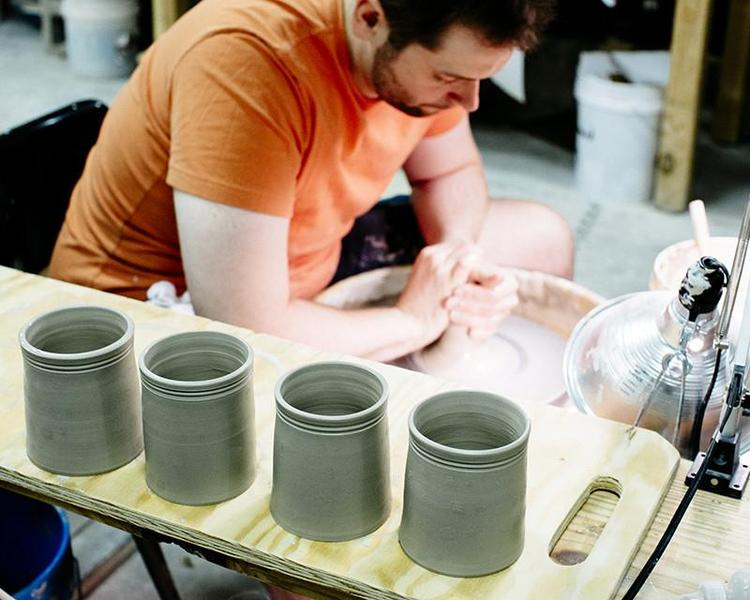Pottery being made at MudLOVE's studio