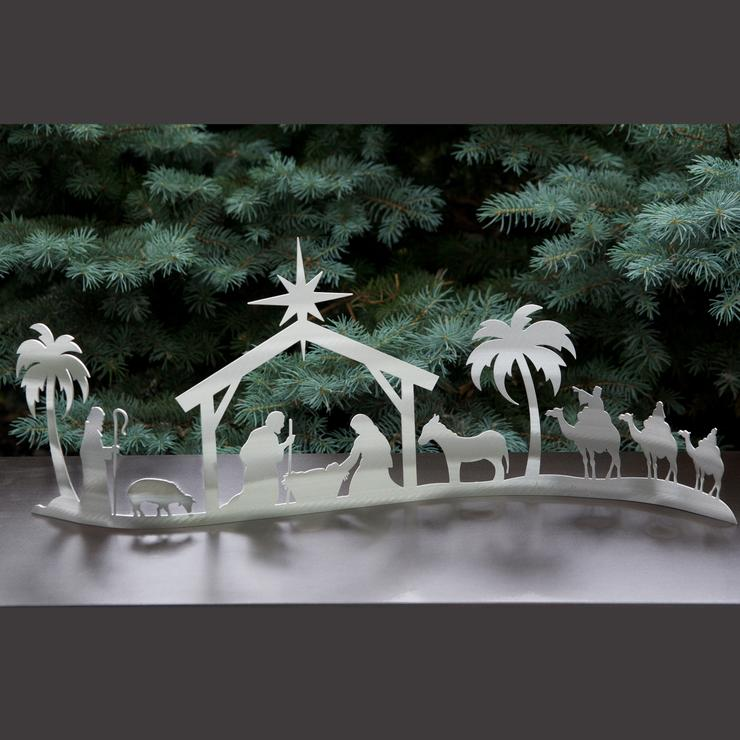 Aluminum Wave Nativity Scene