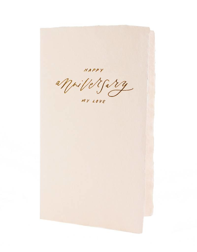 Happy Anniversary Calligraphy Card