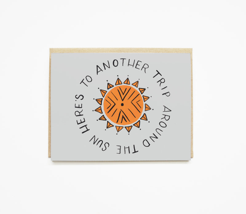 Trip Around the Sun Birthday Card