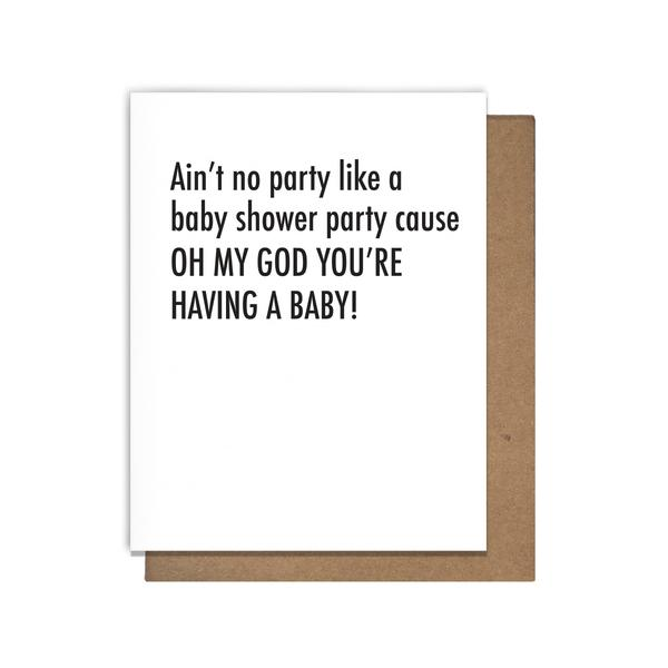 OMG You're Having a Baby Letterpress Congratulations Card