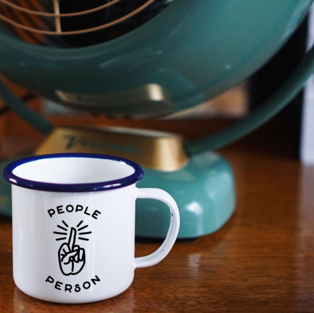 People Person Enamel Mug