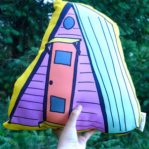 Throw Pillow A-Frame House