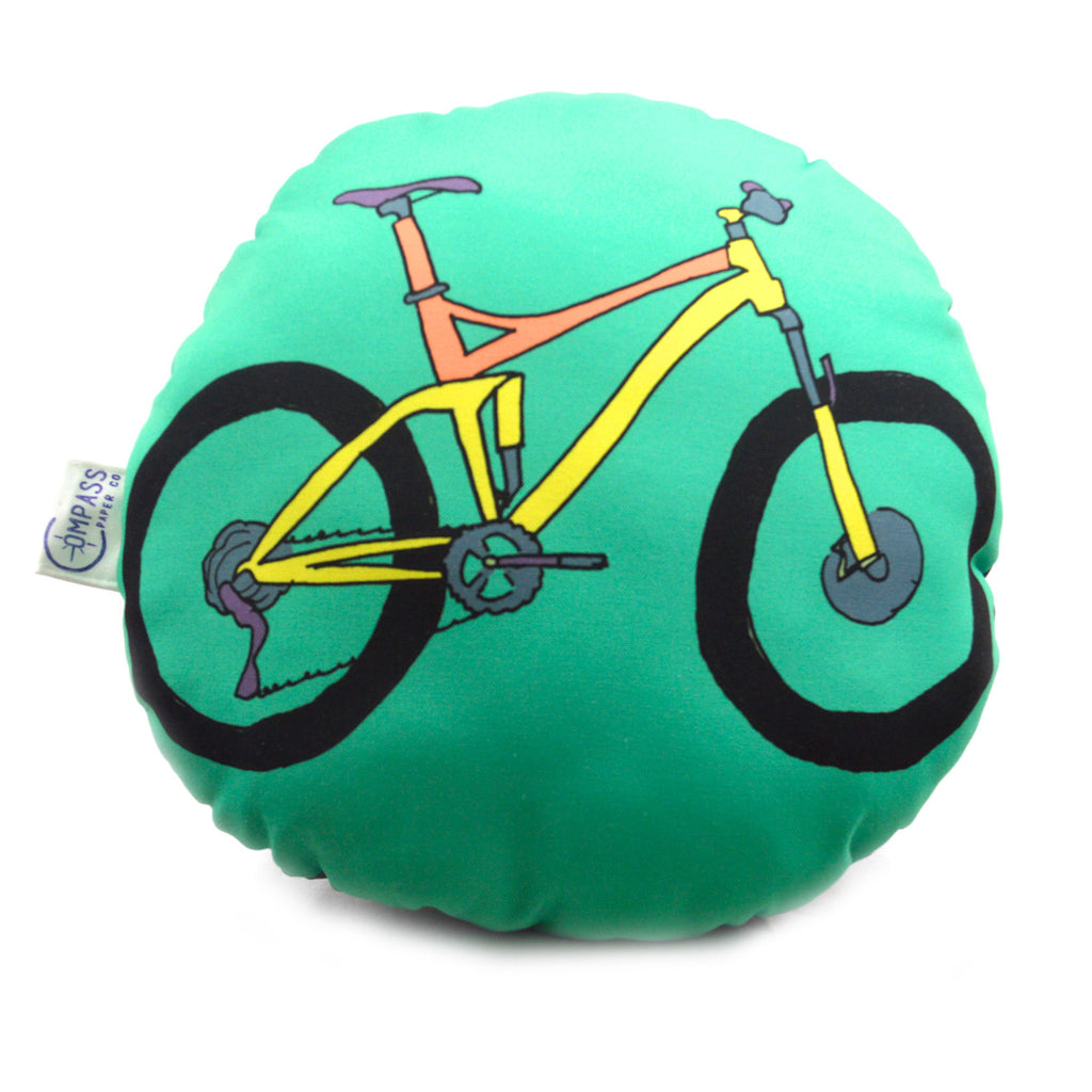 Round Cyclist Gift Pillow