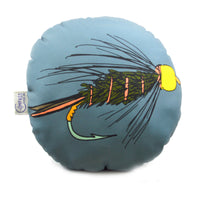 Fly Fishing Inspired Round Pillow