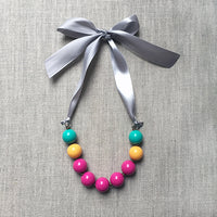 Playdate Ribbon and Bead Necklace