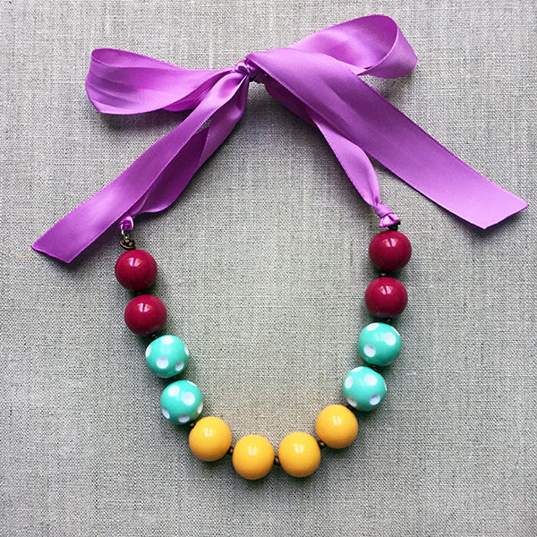Pastel Purple Necklace Gift for Girls