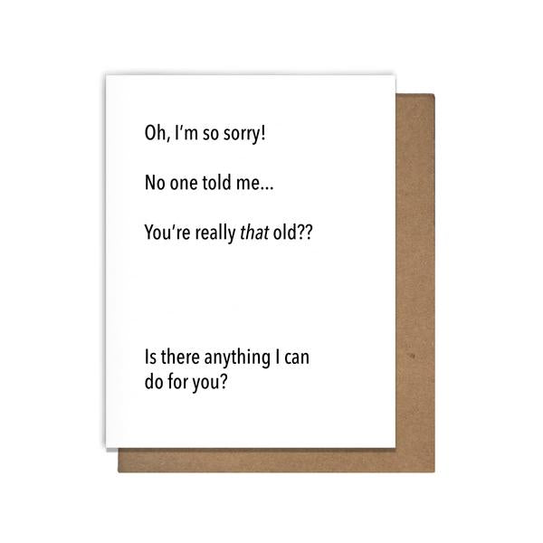 Really That Old Letterpress Birthday Card