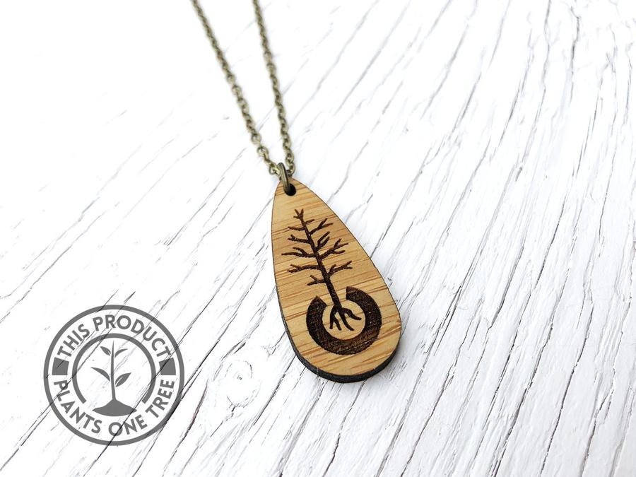 Sustainable Bamboo Diffuser Necklace