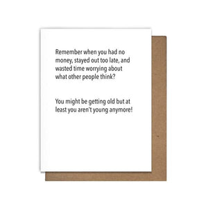Remember When Letterpress Birthday Card