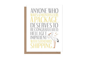 Standard Shipping Stork Baby Card