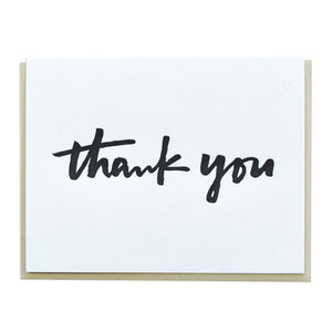 Thank You Hand Lettered Script Card