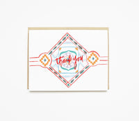 Tribal Pattern Thank You Card