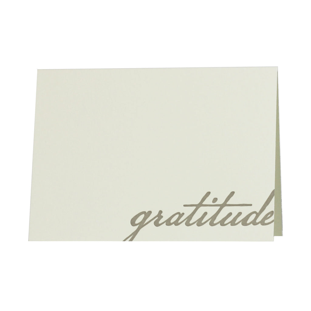 Gratitude Letterpress Notecards