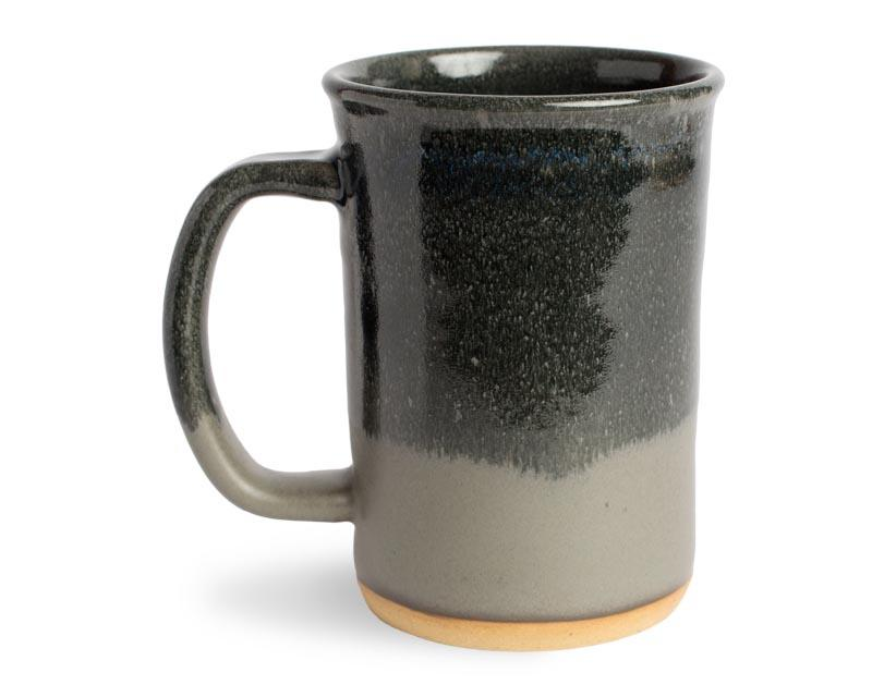 16oz Black and Grey Stoneware Mug