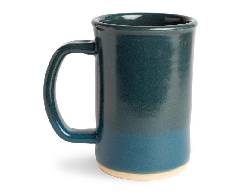 16oz Teal Ombre Wheel Thrown Ceramic MudLOVE Mug
