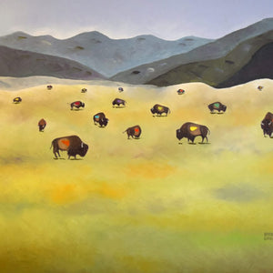 Where the Buffalo Roam Giclee Print by Arturo Garcia Fine Art